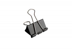 11411 foldback clips 19 mm zwart