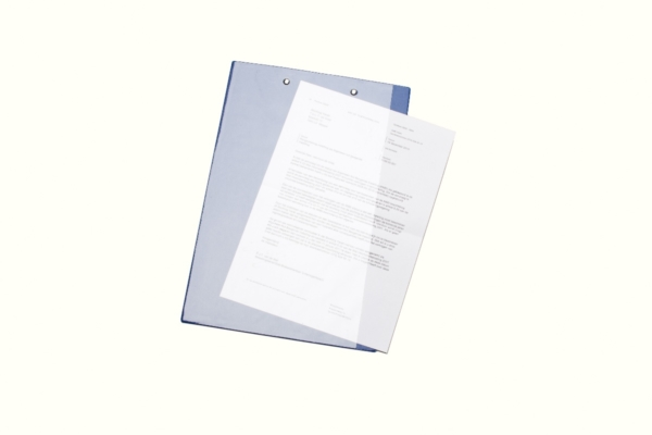 A4 Folio klembord met tas blauw